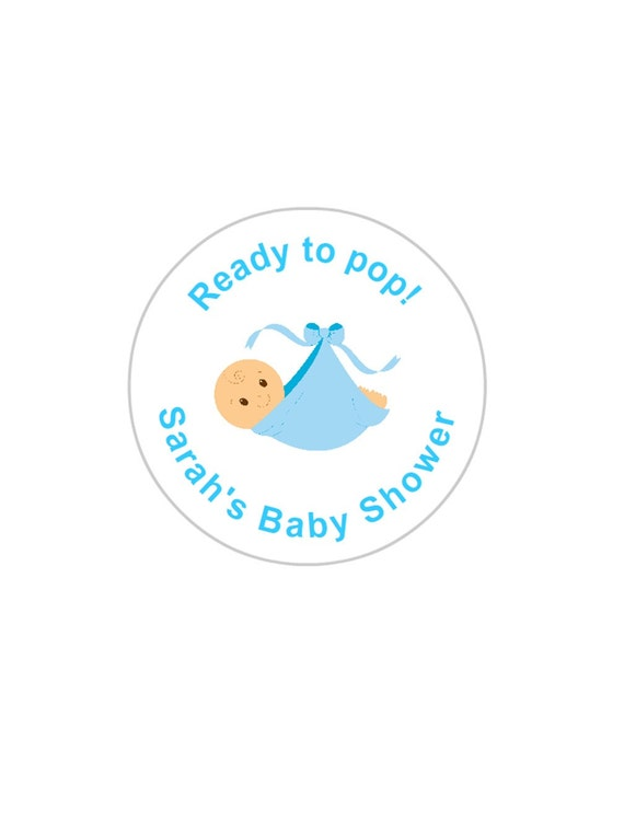 Baby Showers Cardiff ~ Personalised baby shower stickers boy sets of