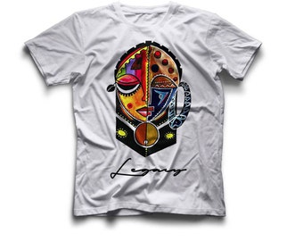 African Mask Tees 100% Polyester