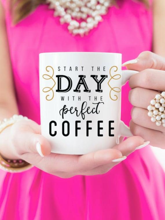 "16 oz  ""Start The Day"" Coffee Mug"