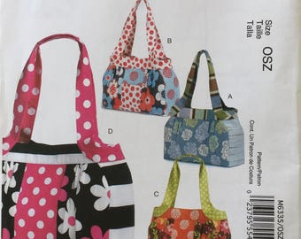 McCalls Fashion Accessories M6335 Bag Uncut In Print Pattern Copyright© 2011