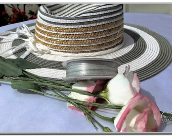 """50 meters 3 mm double-sided satin ribbon 54.68 yd (1/8 """") high quality satin"""
