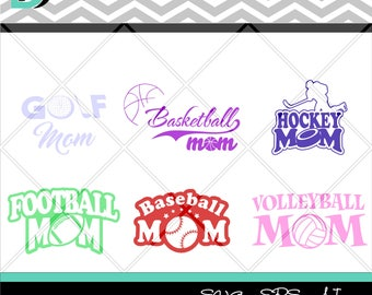 Sport Mom svg,Sport svg Files,Football Mom svg,Baseball Mom svg,Volleyball Mom svg,Basketball Mom svg,Golf Mom svg,Hockey mom svg