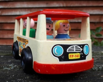 Vintage Fisher Price Minibus with People