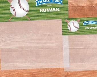 Baseball Birthday Decorations, Printable Baseball Birthday Party Treat Bag Toppers, Baseball Party Favor Bag Tops, Baseball Favors