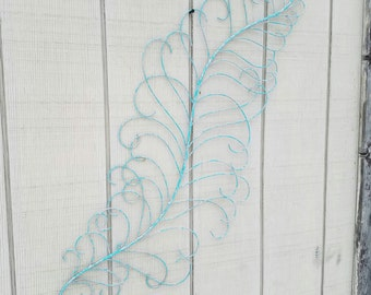 Metal Wall Art, Feather Home Decor, Feather Wall Art,  Metal Wall Decor, Metal Wall Decor, Metal Feather Decor, Wrought Iron Wall Decor