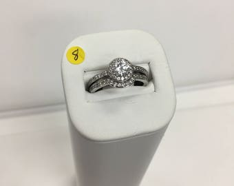 Affordable cubic zirconia wedding ring set