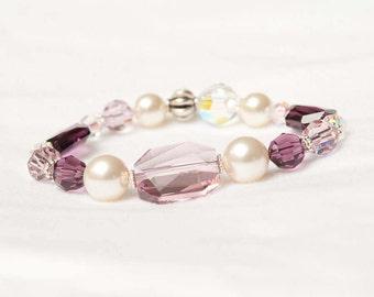 The Jane Handmade Swarovski Crystal Stretch Bracelet