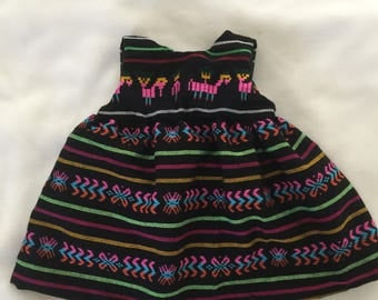Folk Mexican Party Dress/Costume (Woven)