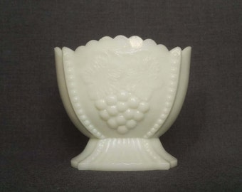 Vintage Milk Glass Footed Candy Dish