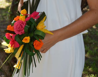Wedding Bouquet Rio preserved flowers - Keep Your Bride Bouquet - Preserved Natural Flowers