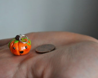 Polymer Clay Happy Pumpkin Charm