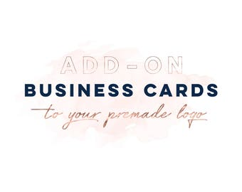 Add-on Business Card, Premade Business Card Template, Business Card Design, Custom Business Card, Logo Add On, Business Card Package