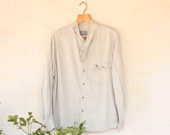 Vintage Funny Georges Garat Wrap Around Collared Shirt - Medium
