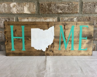 Ohio Home Sign, Ohio State Sign, Ohio Sign, Ohio Wood Sign, State Home Sign