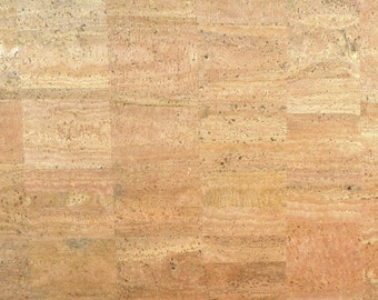 Cork Fabric - (US Supplier) - Natural Surface - Cork Leather - Cork Cloth - Vegan Leather Alternative - Made in Portugal