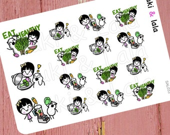 EAT HEALTHY Planner Stickers, Healthy Planner Stickers, Vegetables Stickers, Smoothie Planner Stickers, Planner stickers (SAL033)