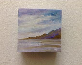Mini Abstract Art, Acrylic painting, Original Art, Landscape, Gift , Wall hanging.