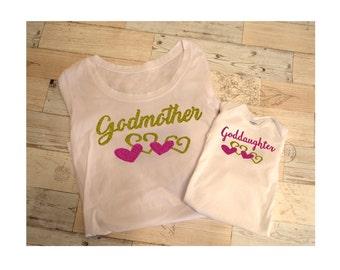 Godmother Goddaughter Matching Shirts - Godmother Goddaughter Baby Clothes - Goddaughter Gifts - Godmother Gifts