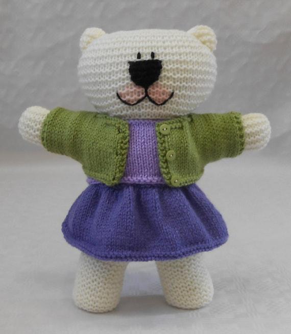 Free Knitting Pattern For Teddy Bear Pants : Teddy Bear Knitting Kit with easy to follow pattern for ...