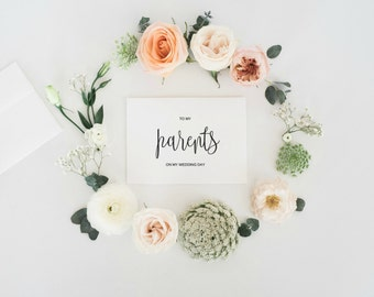 To My Parents On My Wedding Day Card, To My Parents On My Wedding Day, Thank You Card For Parents, Wedding Day Card, Digital Wedding , PDF