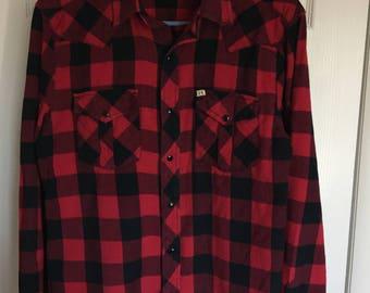 Salt Valley Western Buffalo Plaid mens shirt