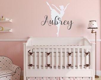 Wonderful Personalized Ballerina Wall Decal Name Nursery Decor  Girls Wall Decals Ballerina  Decor   Nursery Wall