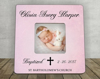 Baptism Gift for Girl, Personalized Picture Frame, Christening, Baby Gift, Personalized Baptism Gift, Baptism Christening Photo Frame
