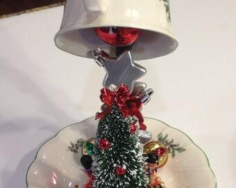 Christmas Topiary, Floating Teacup Xmas, Christmas Tree Diorama, Christmas Tree Decor, Tea Cup Christmas Miniature, Xmas Tree Tea Cup