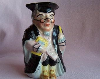 Vintage Toby Jug, Professor Pitcher, Made in Japan