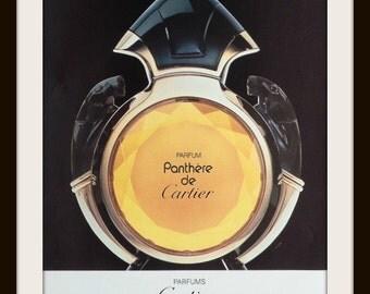 1989 Panthere de Cartier perfum advertisement. Vintage perfume ad. Vintage fragrance ad. Vintage Cartier ad