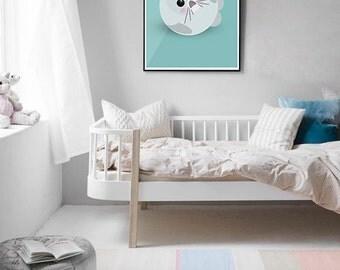 Seal Graphic Giclée Print / Wall Art / Nursery Art