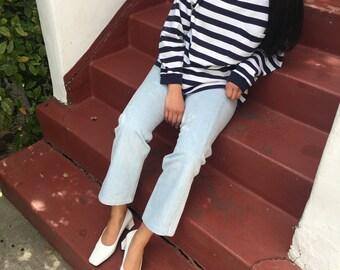 NORDSTROM Blue & White Striped Long Sleeve
