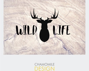 Premade Logo, design logo, animals logo, woodland logo, animal logo, illustration logo
