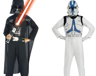 Disguises Dark Vader and Clone trooper Star wars child size 5-7 years