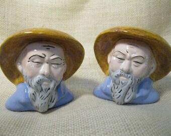 Chinese Men Salt and Pepper Shaker Set
