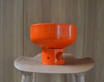 Planter Orange - size Medium - Handmade from recycled gas bottle