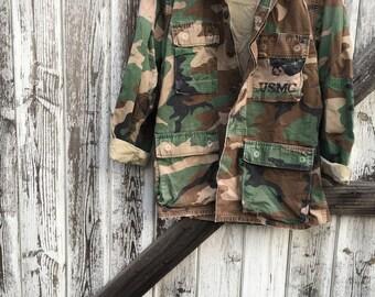 Authentic Camo Army Jacket/ Military Jacket/ USMC Jacket/ Camoflage Jacket