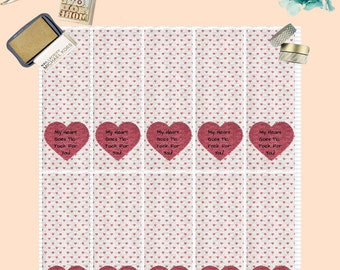 Tic Tac Valentine Stickers-Tic Tac Valentine Labels-Classroom Valentines-Coworker Valentines-Red Heart Valentines Stickers-Personalized