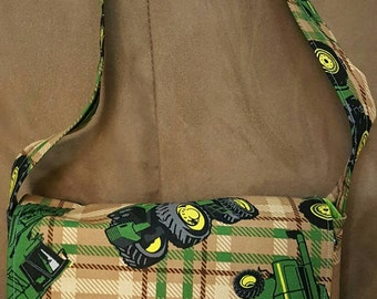 Tractor Kid's Messenger Bag; Small Messenger Bag; Green Messenger Bag; Kid's Bag; Small Bag