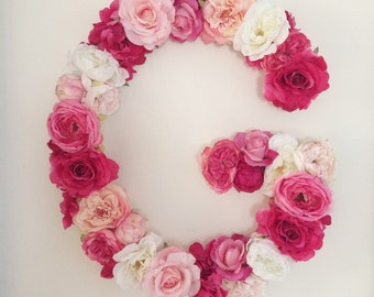 Large Floral Letter - Flower Letter - Floral Letter - Nursery Decor - Nursery Letter - Wedding Monogram - First Birthday Decor - Baby Gift