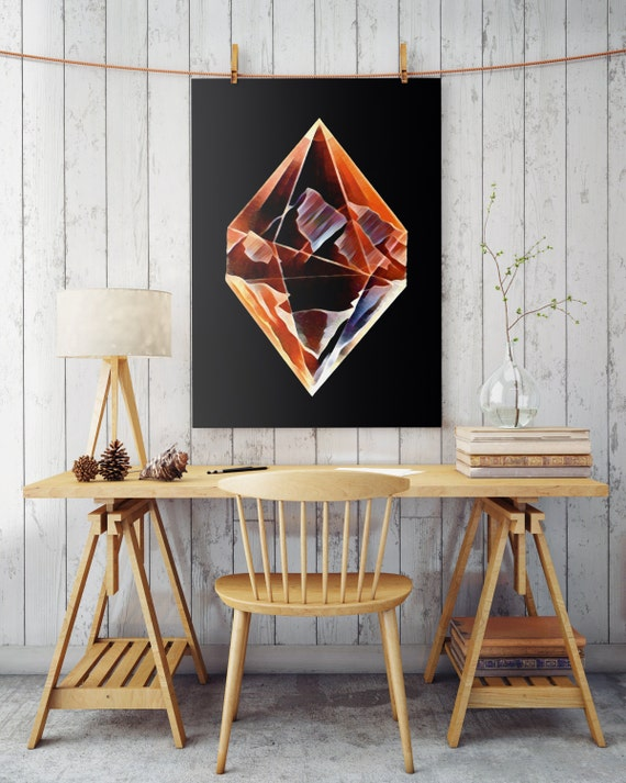 DIAMOND MOUNTAINS | Wall art | poster art | printable art | art prints for sale | Posters | Artwork | Instant download | wall decor
