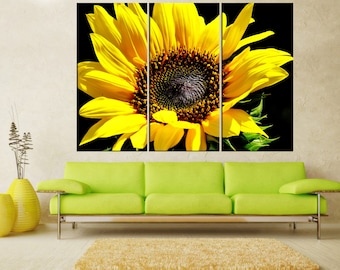 Sunflower canvas print wall art,  extra large wall art, nature flower  large canvas art,  wall art canvas,  wall decoration, art print 6s85