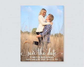 Printable OR Printed Save the Date Cards - Photo Save our Date Cards for Wedding - Wedding Save the Dates Card with Picture 0002
