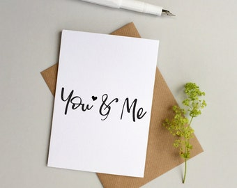Love card - Wedding card - Anniversary card - Husband card - Wife card - Girlfriend Boyfriend Card - Partner card - Valentine's card