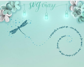 Dragonfly to Remind Me / Dragonfly SVG / Dragonfly / In Memory of / Loss of loved one / Sympathy Gift / Dragonfly DXF / Dragonfly PNG