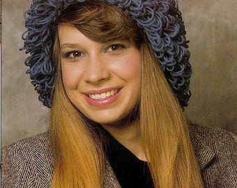 Vintage Loop-Stitch Hat Crochet Pattern