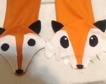 Fox fleece scarf
