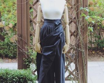 Indigo Modern Hanbok Skirt-Pants Chima