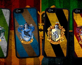 Harry Potter Houses iphone case. Iphone 6 / 6s / 6 plus / 7 / 7 plus Phone case Plastic / Silicone Rubber