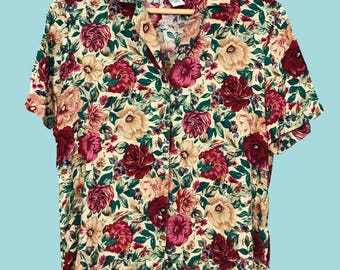 Floral Blouse Button-Down Shirt